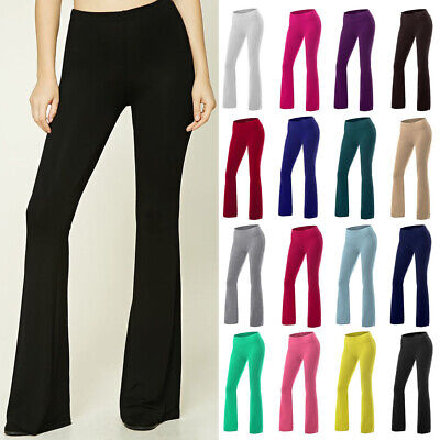 AU29.53 • Buy Women Casual Yoga Flared Wide Leg Long Pants OL Work High Waist Palazzo Trousers
