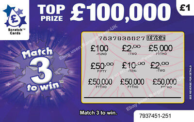 Fake Joke Scratchcards Scratch Cards Tickets - Prank Your Family! • 2.95£