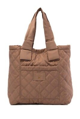 b9d40957a0 NWT MARC JACOBS NEW Diamond Quilted Pretty Nylon Tate Tote GREY $240+  AUTHENTIC • 144.00