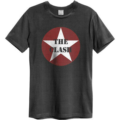£21.38 • Buy Amplified Shirt The Clash Star Logo Unisex Charcoal