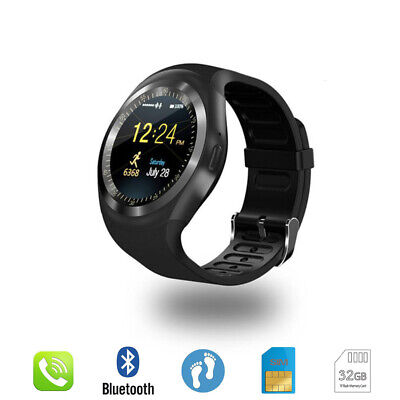 Bluetooth Y1 Smart Watch Relogio Android SmartWatch Phone Call GSM Sim Remote • 13.28£