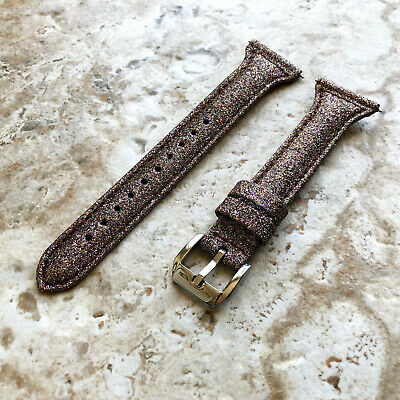 $ CDN34.02 • Buy Brown Sparkling Glitter Slim Elegant Soft Leather Band Strap For Fitbit Versa