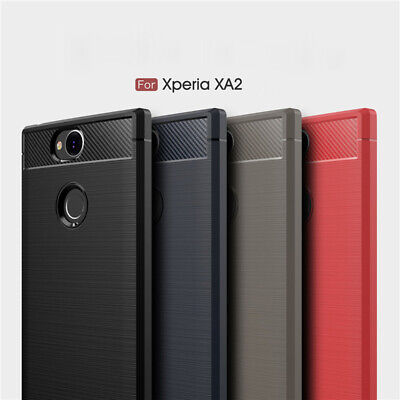 AU8.95 • Buy For SONY Xperia Xa2 Case Flexible Carbon Fiber Shockproof TPU Cover XA3 Ultra