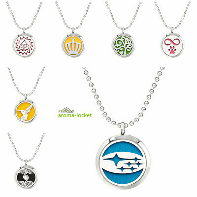 AU3.88 • Buy Scent Essential Oil Diffuser Locket Pendant Necklace Air Fresher For Car Office