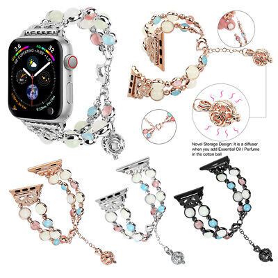 AU19.99 • Buy Apple Watch Band Series SE 6 5 4 3 2 1 40 44mm Women Luminous Night Pearl Strap