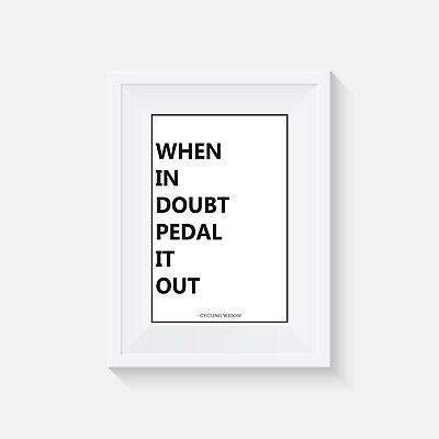 Cycling, Print, Poster, Picture, Quote, Wall Art, Gift, Bike, Home Decor • 4.25£