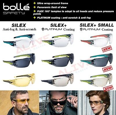 Bolle Safety Glasses Spectacles SILEX Anti-fog Anti-scratch Lens UV Protection • 8.99£
