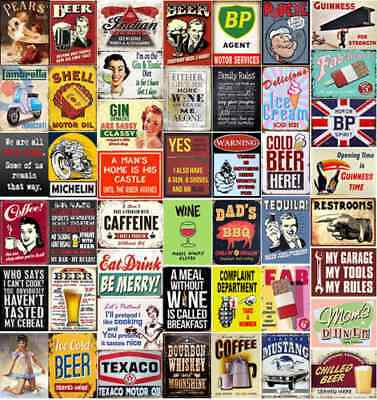 Metal Tin Sign Plaque Bar Pub Vintage Retro Wall Decor Poster Home Club.  • 5.27£