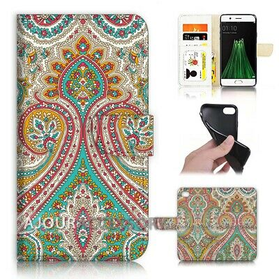 AU12.99 • Buy ( For Oppo A57 ) Wallet Flip Case Cover AJ40010 India Pattern
