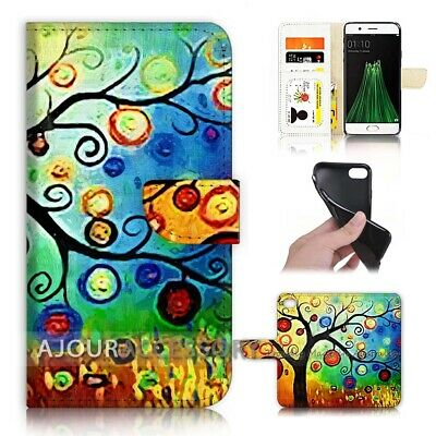 AU12.99 • Buy ( For Oppo A57 ) Wallet Flip Case Cover AJ40121 Truffula Tree