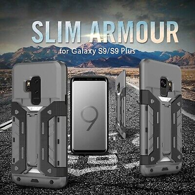 AU14.24 • Buy For Galaxy S9 S8 Case -Heavy Duty Dual Layer Wallet Card Hard Armor Cover AU