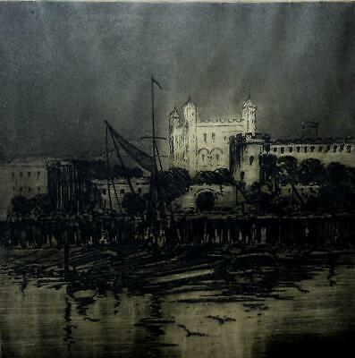 £80 • Buy Captain William Francis Longstaff Limited Edition Etching Tower Of London Signed