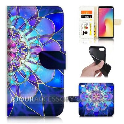 AU12.99 • Buy ( For Oppo A73 ) Flip Wallet Case Cover AJ40387 Abstract Flower