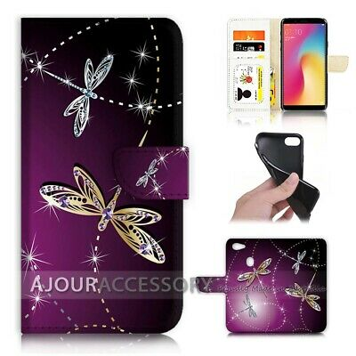 AU12.99 • Buy ( For Oppo A73 ) Flip Wallet Case Cover AJ40232 Bling Dragonfly