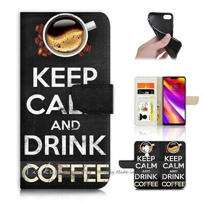 AU12.99 • Buy ( For LG G7 )  Wallet Flip Case Cover AJ40287 Keep Calm Coffee