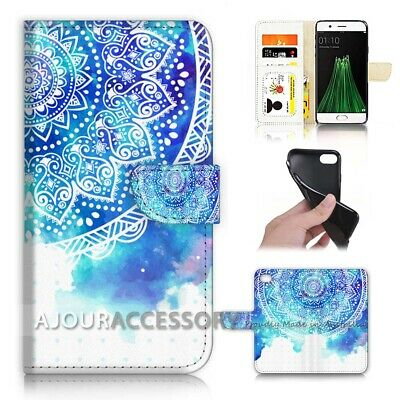AU12.99 • Buy ( For Oppo A57 ) Wallet Flip Case Cover AJ40262 Mandala Pattern