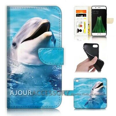 AU12.99 • Buy ( For Oppo A57 ) Wallet Flip Case Cover AJ40378 Dolphin