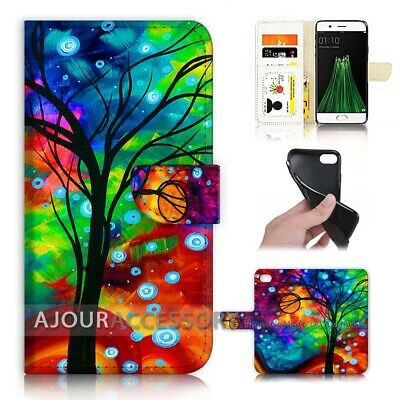 AU12.99 • Buy ( For Oppo A57 ) Wallet Flip Case Cover AJ40369 Truffula Trees