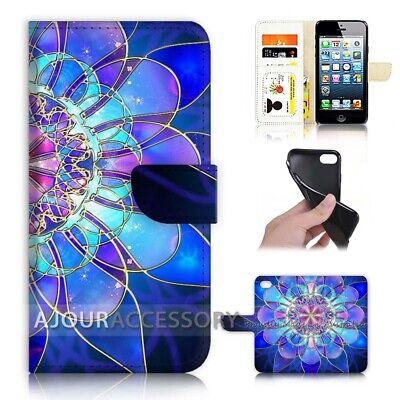 AU12.99 • Buy ( For Huawei Y5 2018 ) Wallet Flip Case Cover AJ40387 Abstract Flower
