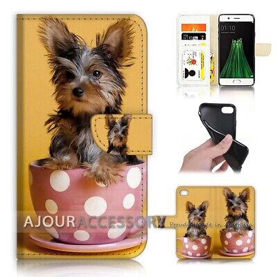 AU12.99 • Buy ( For Oppo A57 ) Wallet Flip Case Cover AJ40250 Cute Dog