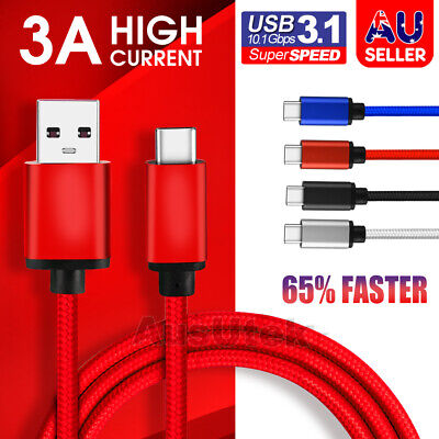 AU8.99 • Buy USB-C 3.1 Type C Data Cable Fast Charge For Samsung S20 Ultra S10 S9 S8 Plus 5G