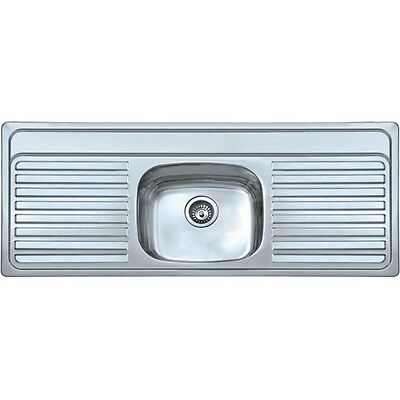 Double Drainer Inset Kitchen Sink 0.8mm Thick Steel - 1310mm X 500mm • 164.99£