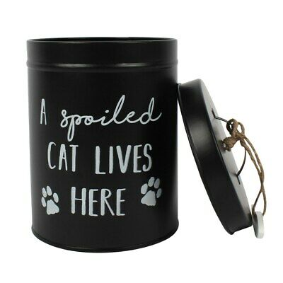 Something Different -  Cat Biscuit Tin Treat Jar With Lid  • 12.95£