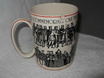 £12.99 • Buy 1973  Wedgwood Queens Ware Tankard For 1000 Years Of British Monarchy A/f