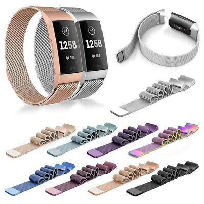 AU17.63 • Buy Magnetic Milanese Loop Stainless Steel Watch Band Strap For Fitbit Charge 2 3