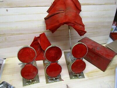 $107 • Buy Orig MILITARY M35A2 DEUCE AND A HALF Truck Red Grote Reflector Flare Kit Metal