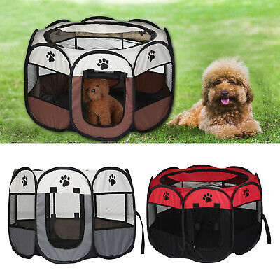 £18.99 • Buy UK Large Portable Pet Dog Cat Playpen Tent Oxford Fabric Fence Kennel Cage Crate