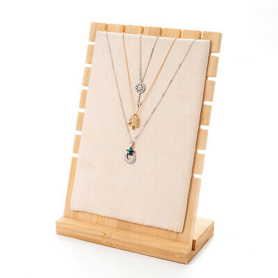 £9.99 • Buy TOP QUALITY Wooden Multi Tiers Pendant Necklace Jewellery Display Stand Show