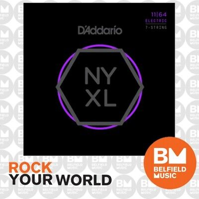 AU27.99 • Buy D'Addario NYXL1164 Electric Guitar Strings 7-Str Nickel Wound 11-64 Medium
