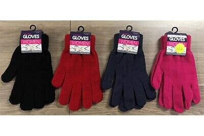 AU5.99 • Buy New 1Pair Ladies Knitted Gloves Winter 4 Asst Colours Womens Warm Fashion