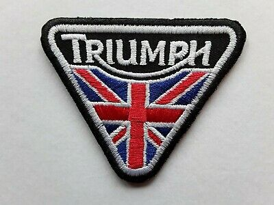 Triumph British Classic Motorcycles Bike Tt Embroidered Quality Patch Uk Seller  • 2.89£