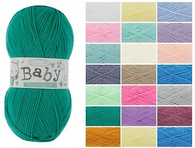 King Cole Big Value Baby DK Double Knit Wool 100g Acrylic Knitting Yarn All Cols • 1.95£