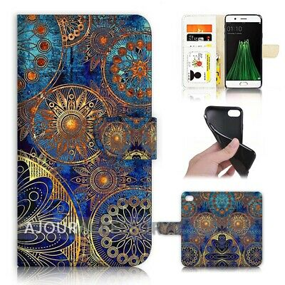 AU12.99 • Buy ( For Oppo A57 ) Wallet Flip Case Cover AJ40419 Abstract Design