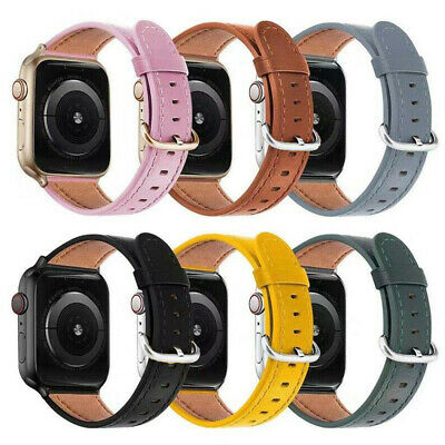 AU26.99 • Buy 40/44mm Genuine Leather IWatch Band Strap Apple Watch Series SE 6 5 4 3 2 1 42mm