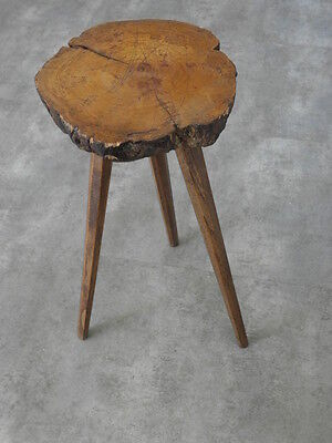 £240 • Buy Tree Trunk Stool Folk Wood Antique Old Campaign Wooden Country Side Farmer