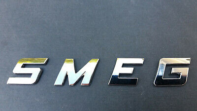 NEW GOOD QUALITY SMEG Word / Letters, 3D CHROME / SILVER, Self Adhesive.  • 4.95£