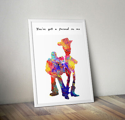 Toy Story Print, Poster, Disney, Quote, Wall Art, Gift, Party, Picture, Woody • 4.14£