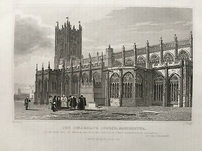 £7.99 • Buy 1835 Antique Print; Manchester Cathedral After Harwood