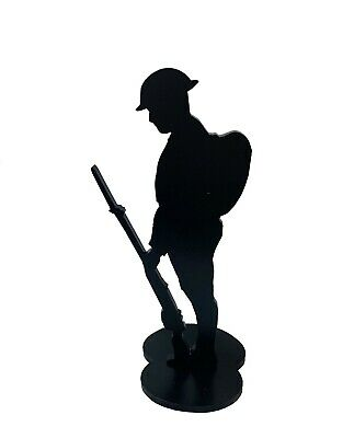 Metal Soldier Silhouette Desktop Tommy-black Base-statue/figurine/army • 19.99£