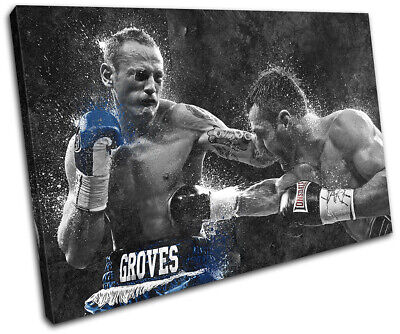 £24.99 • Buy Carl Froch Groves Boxing Grunge Sports SINGLE CANVAS WALL ART Picture Print