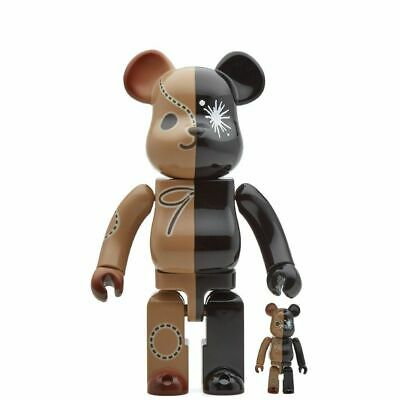 $249.99 • Buy Mihara Yasuhiro Bearbrick Set 400% 100% Be@rbrick Brown Black Sold Out Limited