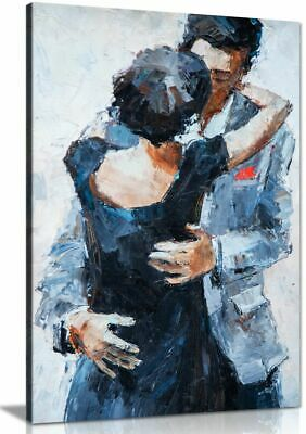 £29.99 • Buy Romantic Embrace Couple Kissing Wall Painting Canvas Wall Art Picture Print