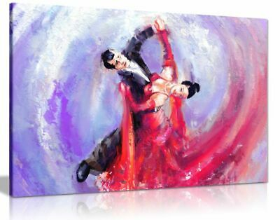 £34.99 • Buy Romantic Ballroom Dancers Wall Painting Canvas Wall Art Picture Print