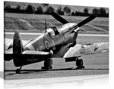 £39.99 • Buy Black White Raf Spitfire Aircraft Canvas Wall Art Picture Print
