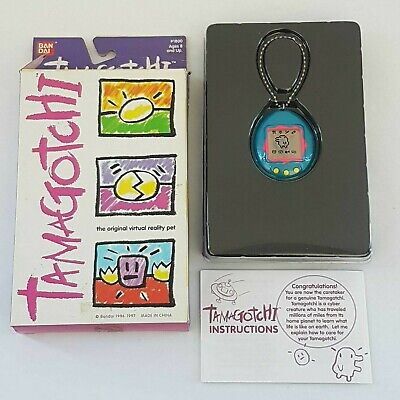 AU84.92 • Buy 1997 Bandai Tamagotchi Boxed Blue Pink Very Good Condition Virtual Pet Ban Dai