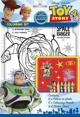 Disney Pixar Toy Story 4 Colouring Set Childrens Activity Stickers Party Gift • 2.05£